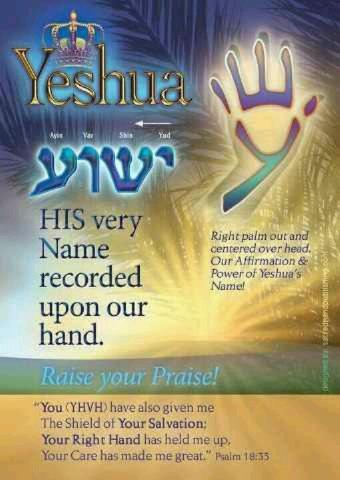 Yeshua's Name Written on Our Hands - The Gathering Place